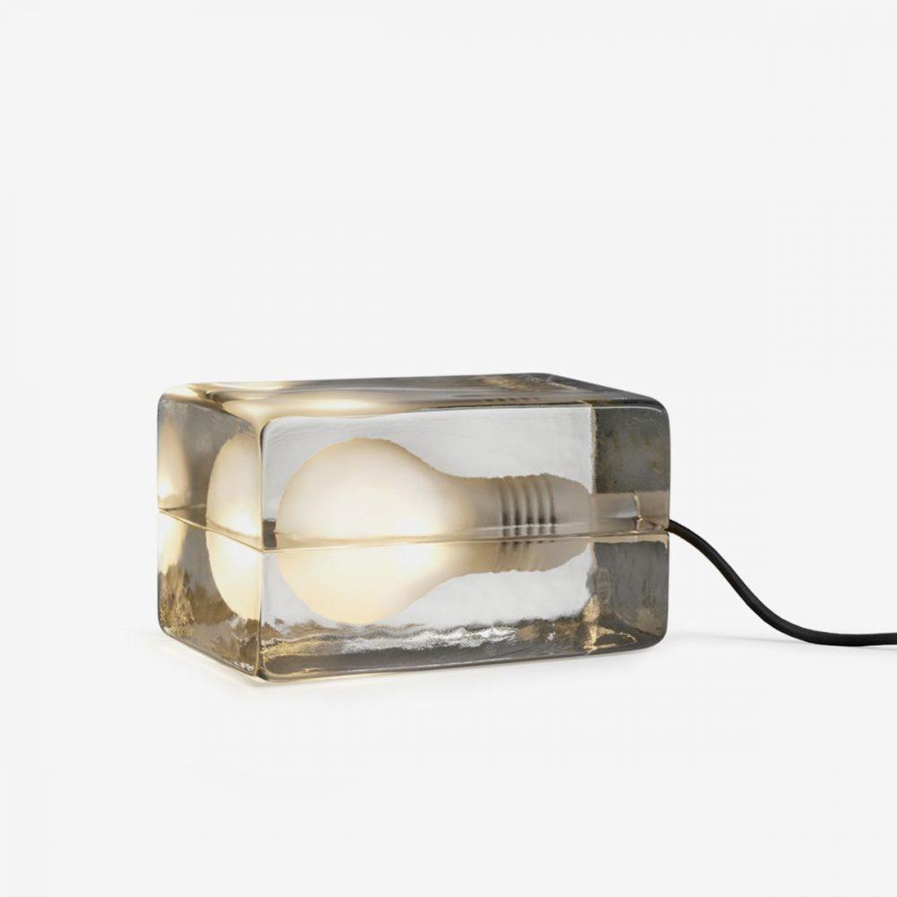 Lámpara block con cable negro