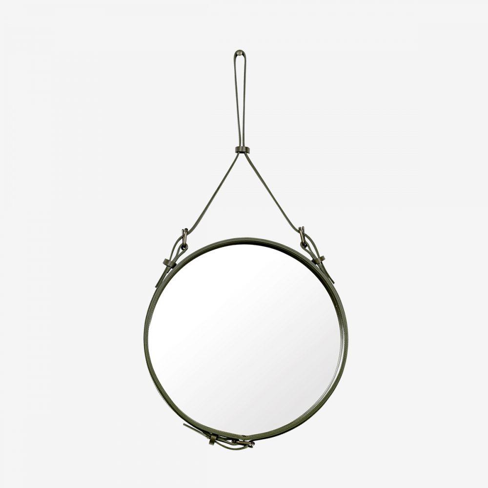 Espejo ande circular oliva
