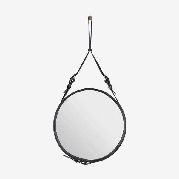 Espejo Adnet circular negro
