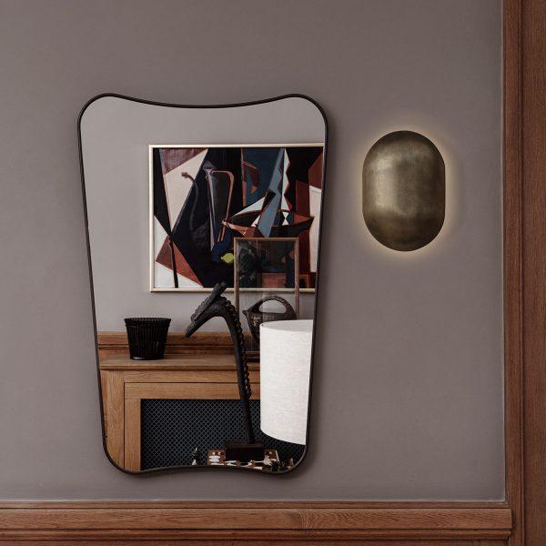 Espejo Gubi negro salon
