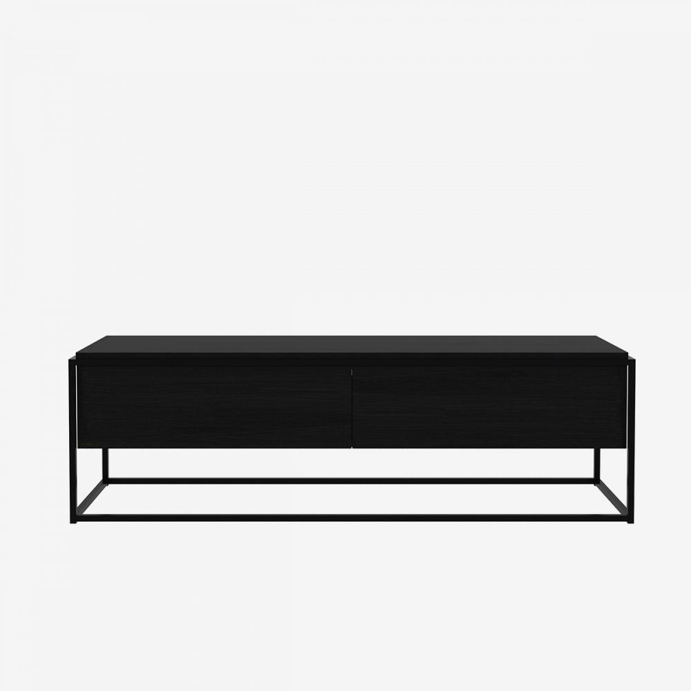 mueble TV Monolit negro ethnicraft